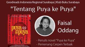 Literasi Oktober: Goodreads Surabaya, Faisal Oddang, dan Puya ke Puya