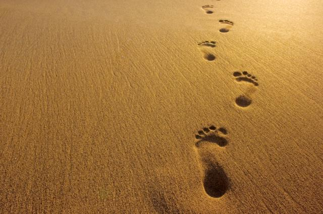 footstep on sand
