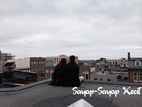 Girl and Boy on the roof