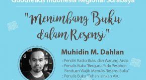 Literasi Oktober: GRI Regional Surabaya - Menimbang Buku dalam Resensi