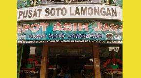 Depot Asih Jaya, Pusat Soto Lamongan