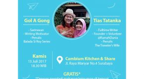Literasi Februari: GRI Regional Surabaya, Gol A Gong, dan Tias Tatanka